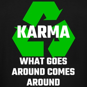 Karma - Karma What Goes Around Comes Around - Men's Tall T-Shirt