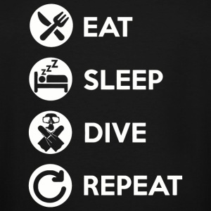 Dive - Eat Sleep Dive Repeat Funny Diver, Dive T - Men's Tall T-Shirt
