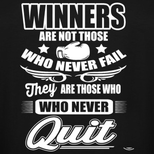 Boxing - Boxing: Winners are those who never qui - Men's Tall T-Shirt