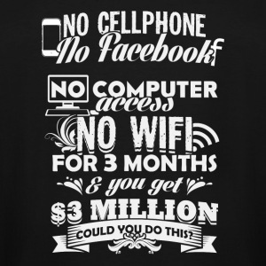 Wifi Wifi No cellphone facebook for 3 month - Men's Tall T-Shirt