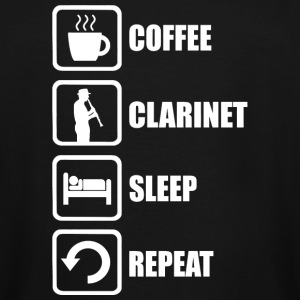 Clarinet - Coffee Clarinet Sleep Repeat Funny - Men's Tall T-Shirt