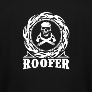 Roofer - Skull with hammers T-shirt - Men's Tall T-Shirt