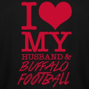 Buffalo Football - I Love My Husband & Buffalo F - Men's Tall T-Shirt