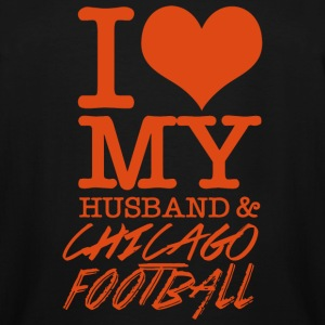 Chicago - I Love My Husband & Chicago Football - Men's Tall T-Shirt