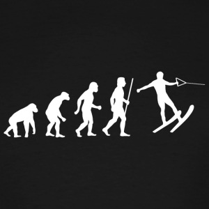 Skiing - Funny Evolution of Water Skiing - Men's Tall T-Shirt