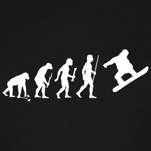Snowboarding - Evolution of Man and Snowboarding - Men's Tall T-Shirt