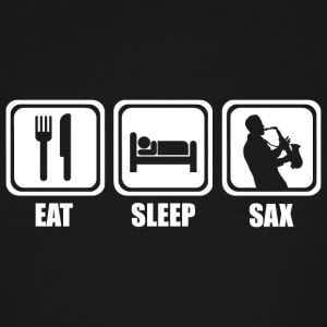 Saxophone - Eat Sleep Saxophone - Men's Tall T-Shirt