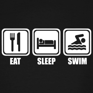 Swimming - Eat Sleep Swimming - Men's Tall T-Shirt