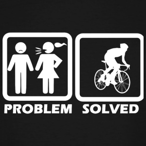 Cycling - Cycling Solved My Problem - Men's Tall T-Shirt