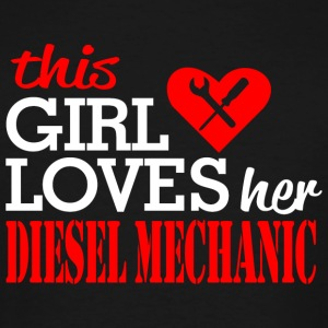 Diesel mechanic - this girl loves her diesel mec - Men's Tall T-Shirt