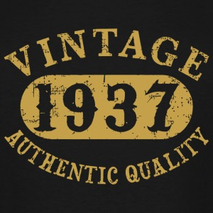 1937 - 80 years old 80th B-day Vintage Birthday - Men's Tall T-Shirt