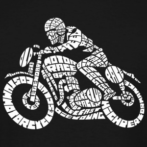 Motorcycle - Cafe Motor Racer Biker Word Cloud - Men's Tall T-Shirt