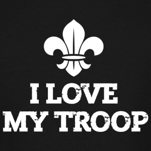 Scout - I love my troop - Men's Tall T-Shirt