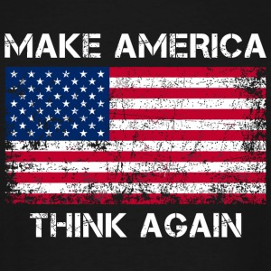 America - Make America Think Again Shirt - Men's Tall T-Shirt