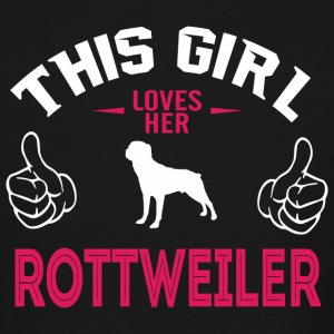 Rottweiler - Rottweiler - This Girl Love Her Rot - Men's Tall T-Shirt