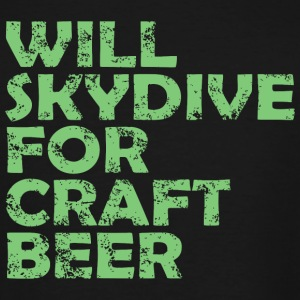 Skydive - will skydive for craft beer - Men's Tall T-Shirt