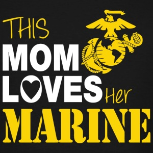 Marine - This Mom Loves Her Marine - Men's Tall T-Shirt