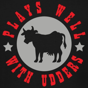 Farmer - Plays well with udders - Men's Tall T-Shirt