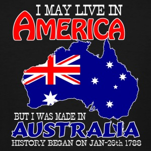 Live in America, made in Australia - Men's Tall T-Shirt