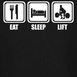 Lift - Eat Sleep Lift - Men's Tall T-Shirt