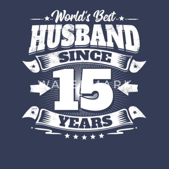 Wedding Day 15th Anniversary Gift Husband Hubby Men S Tall T Shirt Spreadshirt