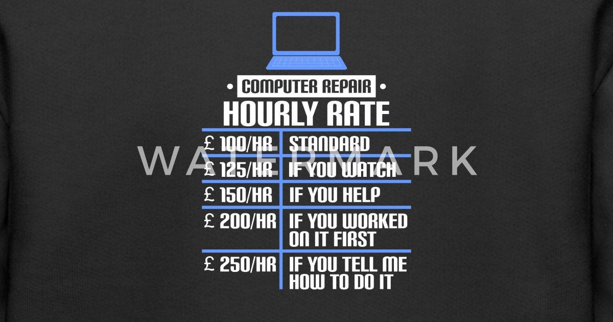 Computer Repair Hourly Rate Guide Kids' Premium Hoodie   Spreadshirt