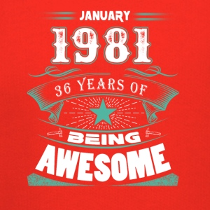 January 1981 - 36 years of being awesome (v.2017) - Kids' Premium Hoodie