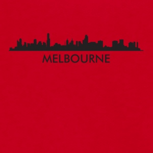 Melbourne Australia Skyline - Unisex Fleece Zip Hoodie by American Apparel