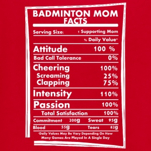 Badminton Mom Facts Daily Values May Be Vary - Unisex Fleece Zip Hoodie by American Apparel