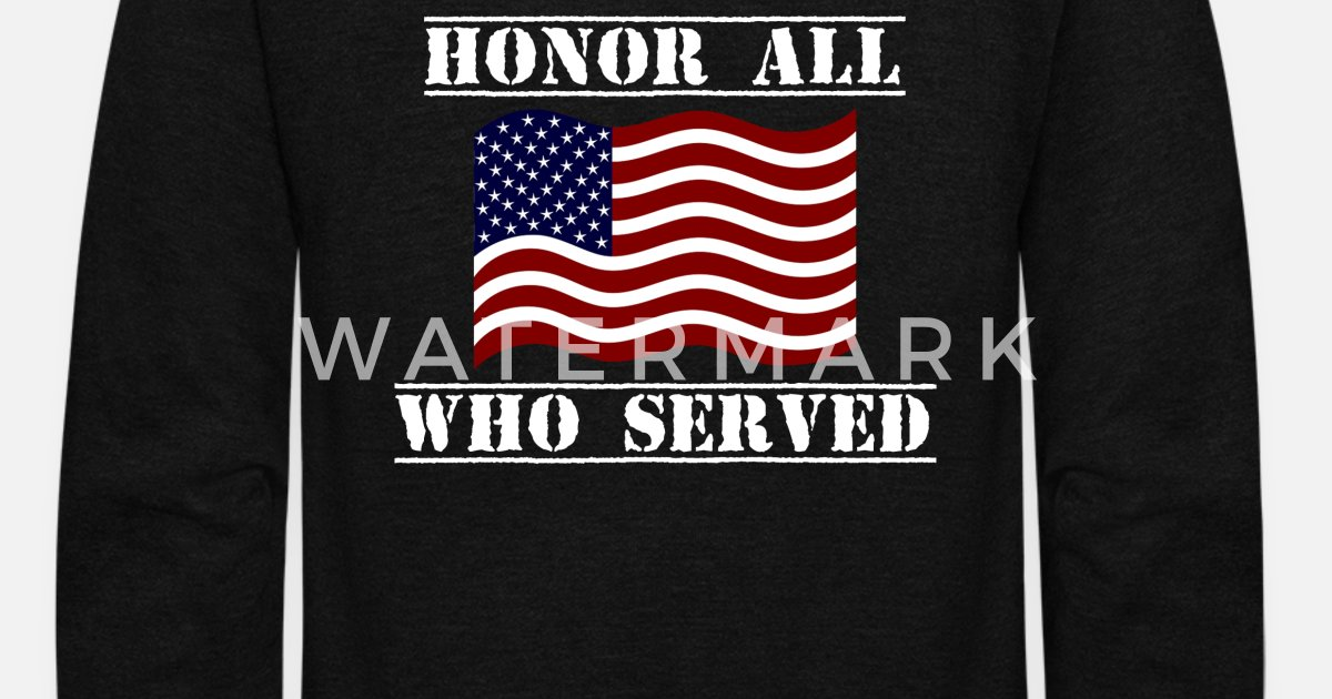 Patriotic Veterans Day Shirt Honor All Who Served Unisex Fleece Zip Hoodie   a08360b31