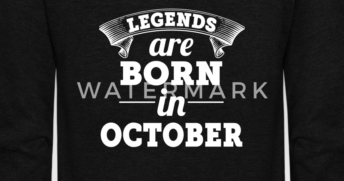 Unisex Fleece Zip HoodieLegends Are Born In October Birthday Shirt