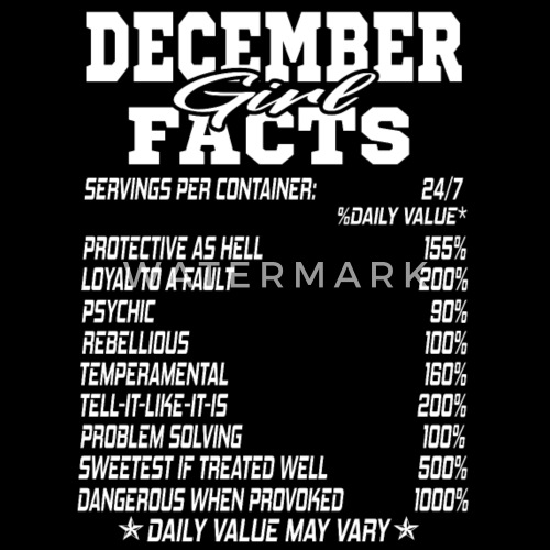 Funny December Quotes: DECEMBER Born Girl Funny Birthmonth Fact Quotes Unisex