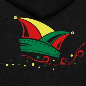 Carnival, jester cap, streamers - Unisex Fleece Zip Hoodie by American Apparel