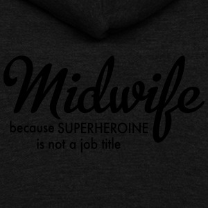 Midwife - Unisex Fleece Zip Hoodie by American Apparel