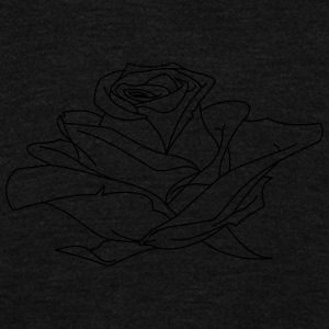 Rose Drawing - Unisex Fleece Zip Hoodie by American Apparel
