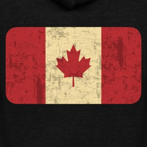 Grungy Flag of Canada - Unisex Fleece Zip Hoodie by American Apparel