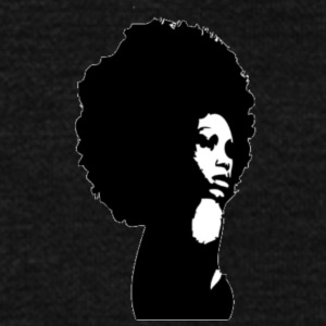 black women afro - Unisex Fleece Zip Hoodie by American Apparel