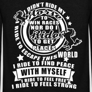 I Didn't Ride My Horse To Win Races T Shirt - Unisex Fleece Zip Hoodie by American Apparel