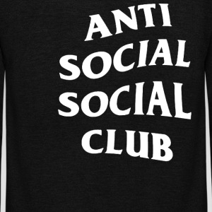 Anti Social Club - Unisex Fleece Zip Hoodie by American Apparel