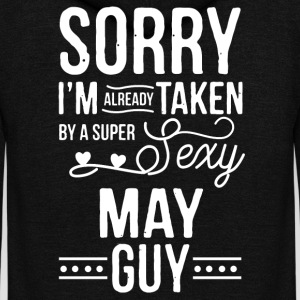 I'm already taken by a super sexy may guy - Unisex Fleece Zip Hoodie by American Apparel