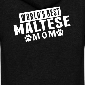 World's Best Maltese Mom - Unisex Fleece Zip Hoodie by American Apparel