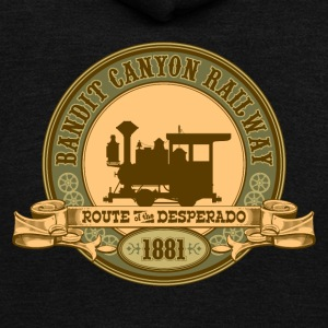 Bandit Canyon Railway - Unisex Fleece Zip Hoodie by American Apparel