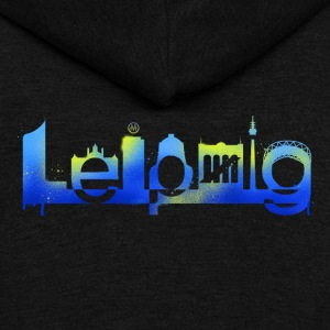 Leipzig Skyline Graffiti - Unisex Fleece Zip Hoodie by American Apparel