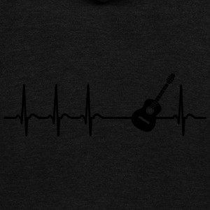 Heartbeat Guitar Player Teacher Band Funny Gift - Unisex Fleece Zip Hoodie by American Apparel