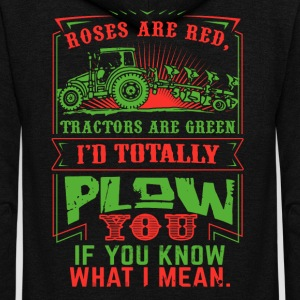 Roses are Red Tractors are Green - Unisex Fleece Zip Hoodie by American Apparel
