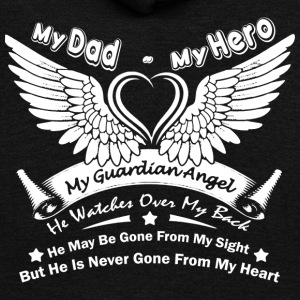 My Dad My Hero T Shirt - Unisex Fleece Zip Hoodie by American Apparel