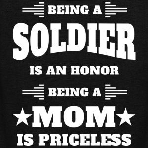 Being a soldier is an honor - Mom is priceless - Unisex Fleece Zip Hoodie by American Apparel