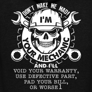 MECHANIC TEE SHIRT - Unisex Fleece Zip Hoodie by American Apparel