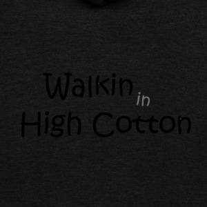 walkin in high cotton - Unisex Fleece Zip Hoodie by American Apparel