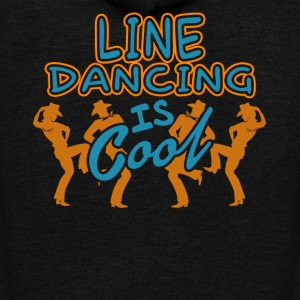 LINE DANCING IS COOL SHIRT - Unisex Fleece Zip Hoodie by American Apparel